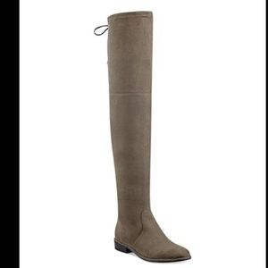 Marc Fisher warm taupe suede over the knee boots